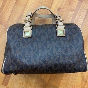 Michael Kors signature medium satchel hang bag